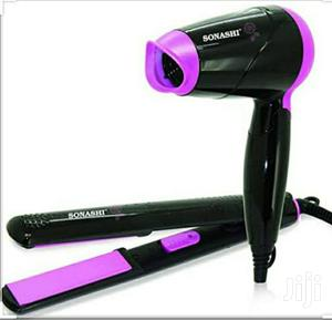 Sonashi Combo Hair Dryer And Straightener | Tools & Accessories for sale in Addis Ababa, Addis Ketema
