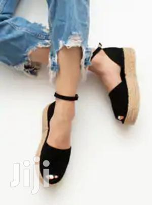 Women's Black And Blue-black Espadrille Sandal | Shoes for sale in Addis Ababa, Bole