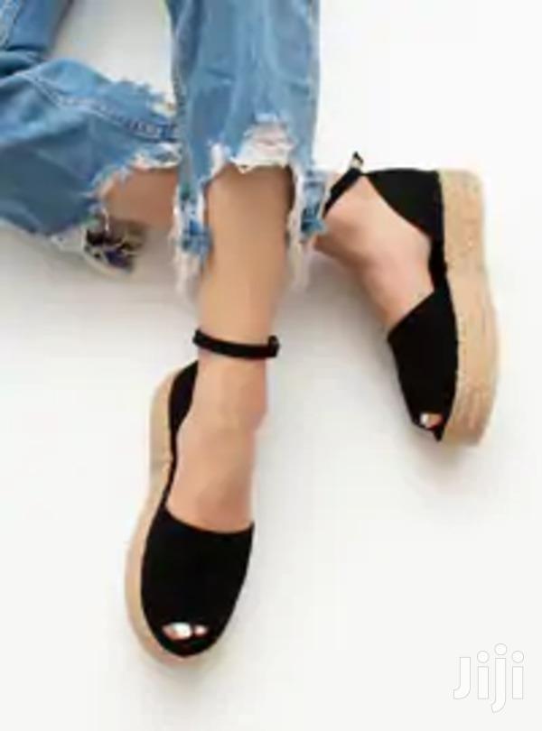 Women's Black And Blue-black Espadrille Sandal