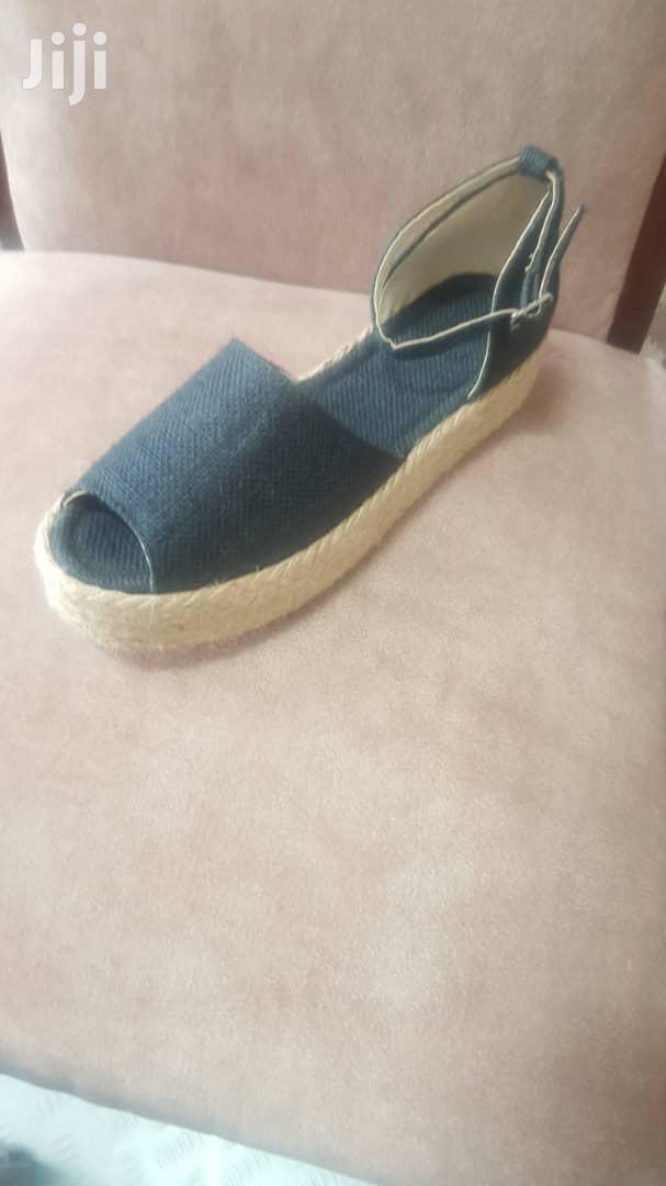 Women's Black And Blue-black Espadrille Sandal | Shoes for sale in Bole, Addis Ababa, Ethiopia