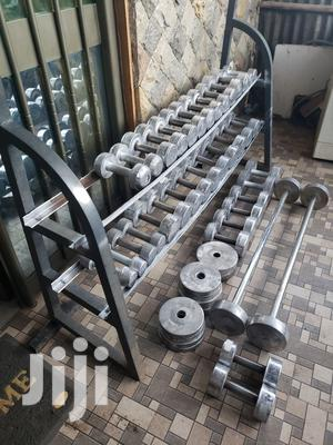 Dumbbell And Barbells | Sports Equipment for sale in Addis Ababa, Kolfe Keranio