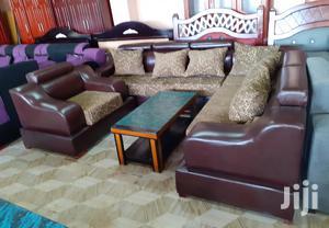 New L-Shape Leather Sofa | Furniture for sale in Addis Ababa, Bole