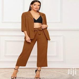 SHEIN BRAND Orange Brown Suit Blazer Trouser XL | Clothing for sale in Addis Ababa, Arada