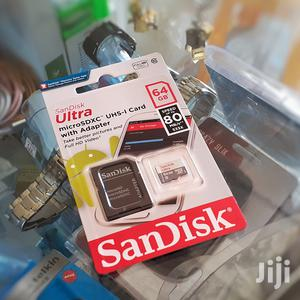 64 GB Sandisk Ultra SD Card With Adapter | Accessories for Mobile Phones & Tablets for sale in Addis Ababa, Yeka