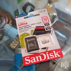 32 GB Sandisk Ultra SD Card With Adapter | Accessories for Mobile Phones & Tablets for sale in Addis Ababa, Yeka