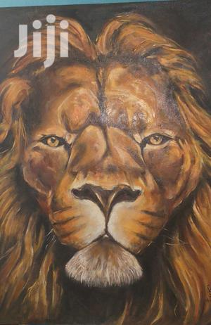SOLD - Black Lion Oil on Canvas 90*53 Cm | Arts & Crafts for sale in Addis Ababa, Yeka