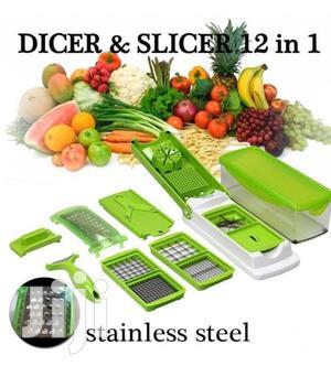 Nicer Dicer Plus 12 Pcs Salad Vegetable Fruit Slicer Shredde | Kitchen & Dining for sale in Addis Ababa, Arada