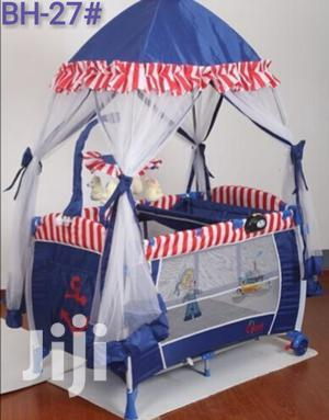 Portable Baby Bed With Table ተጣጣፊ የህፃናት አልጋ | Children's Furniture for sale in Addis Ababa, Yeka