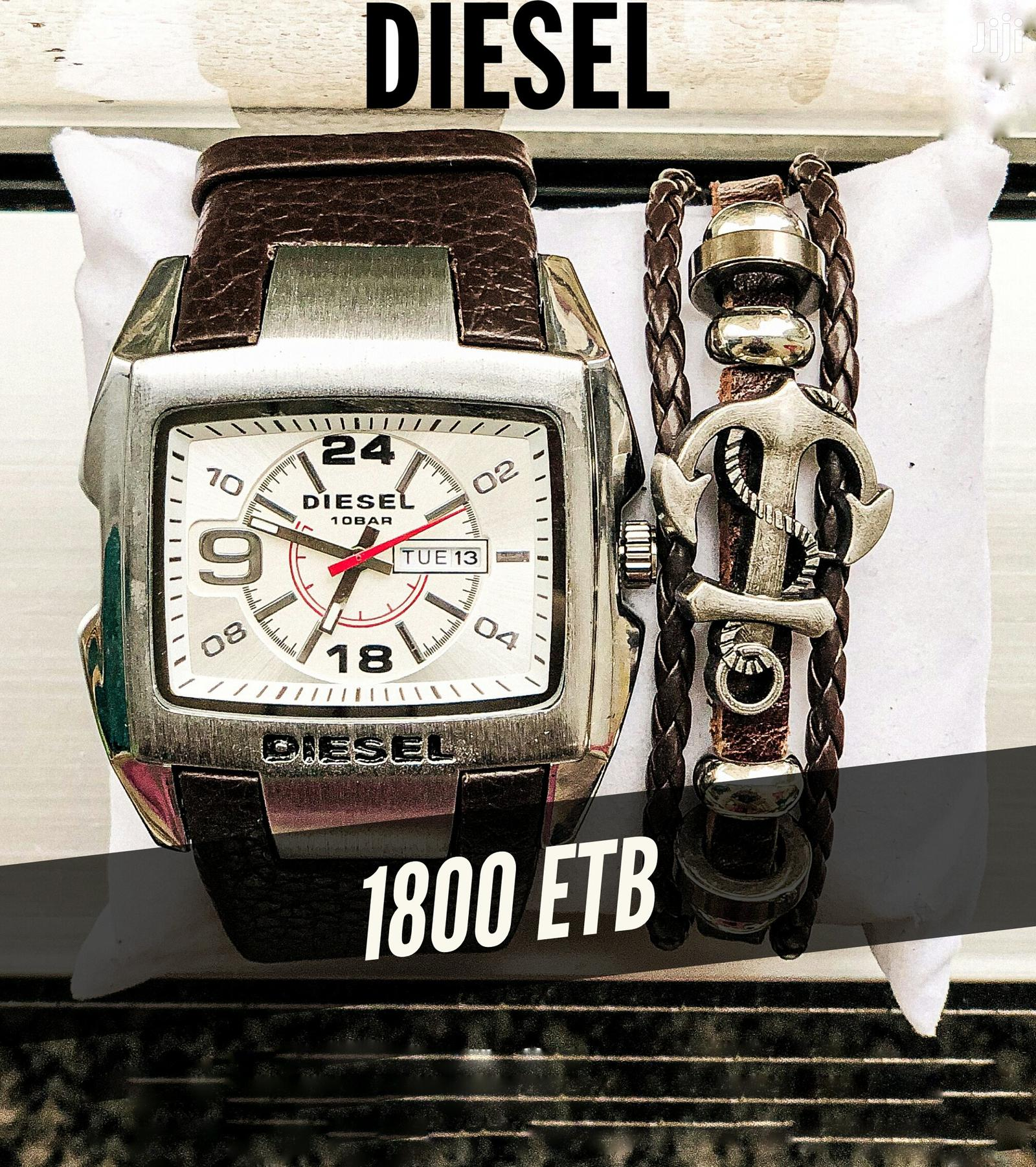 DIESEL WATCH + Bracelets | Watches for sale in Bole, Addis Ababa, Ethiopia