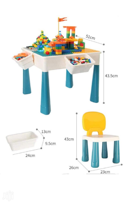 የህፃናት መማሪያ እና መጫወቻ Kids Learning Desk With Puzzle Blocks | Children's Furniture for sale in Yeka, Addis Ababa, Ethiopia