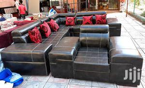 Full Leather (Emitation) L - Shape Sopha. | Furniture for sale in Addis Ababa, Bole
