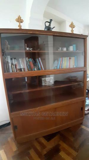 Solid Wood Cabinet With Sliding Glass   Furniture for sale in Addis Ababa, Addis Ketema