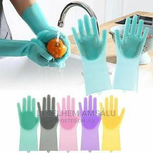 Magic Silicone Dish Washing Gloves | Kitchen & Dining for sale in Addis Ababa, Bole