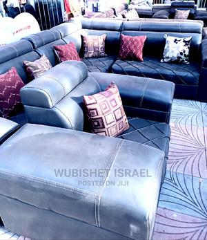 Brand New Large Size Leather Imitation L Shsped Sopha | Furniture for sale in Addis Ababa, Bole