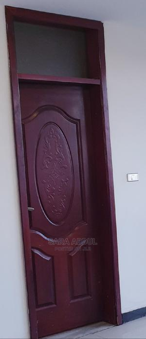 Mahogany Brown Colour Wooden Doors Full Accessories Included | Doors for sale in Addis Ababa, Arada