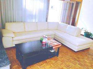 Cream Color Pure Leather Sofa Imported | Furniture for sale in Addis Ababa, Nifas Silk-Lafto