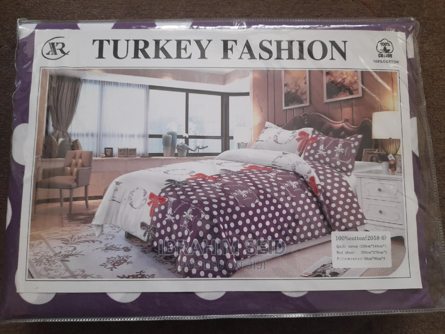 Turkey Fashion 6pcs Bed Cover | Home Accessories for sale in Nifas Silk-Lafto, Addis Ababa, Ethiopia