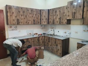 Kitchen Cabinet Made With HDF UV Board   Furniture for sale in Addis Ababa, Kolfe Keranio