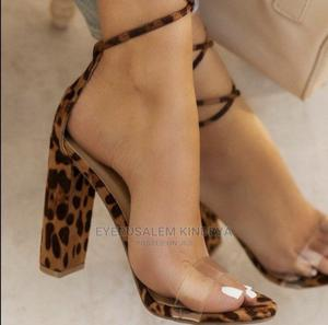 Cheetah-Printed Translucent Heel | Shoes for sale in Addis Ababa, Nifas Silk-Lafto