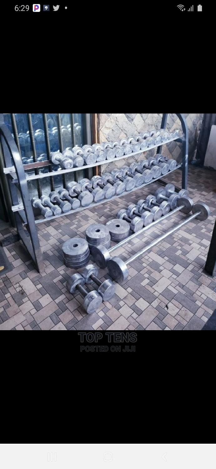 Dumbbell And Barbells | Sports Equipment for sale in Kolfe Keranio, Addis Ababa, Ethiopia