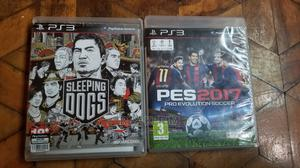 Ps3 Cd Games Pes and Sleeping Dogs | Video Games for sale in Addis Ababa, Kolfe Keranio