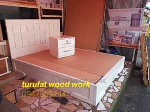 New Quality White 1.50cm Bed | Furniture for sale in Addis Ababa, Yeka