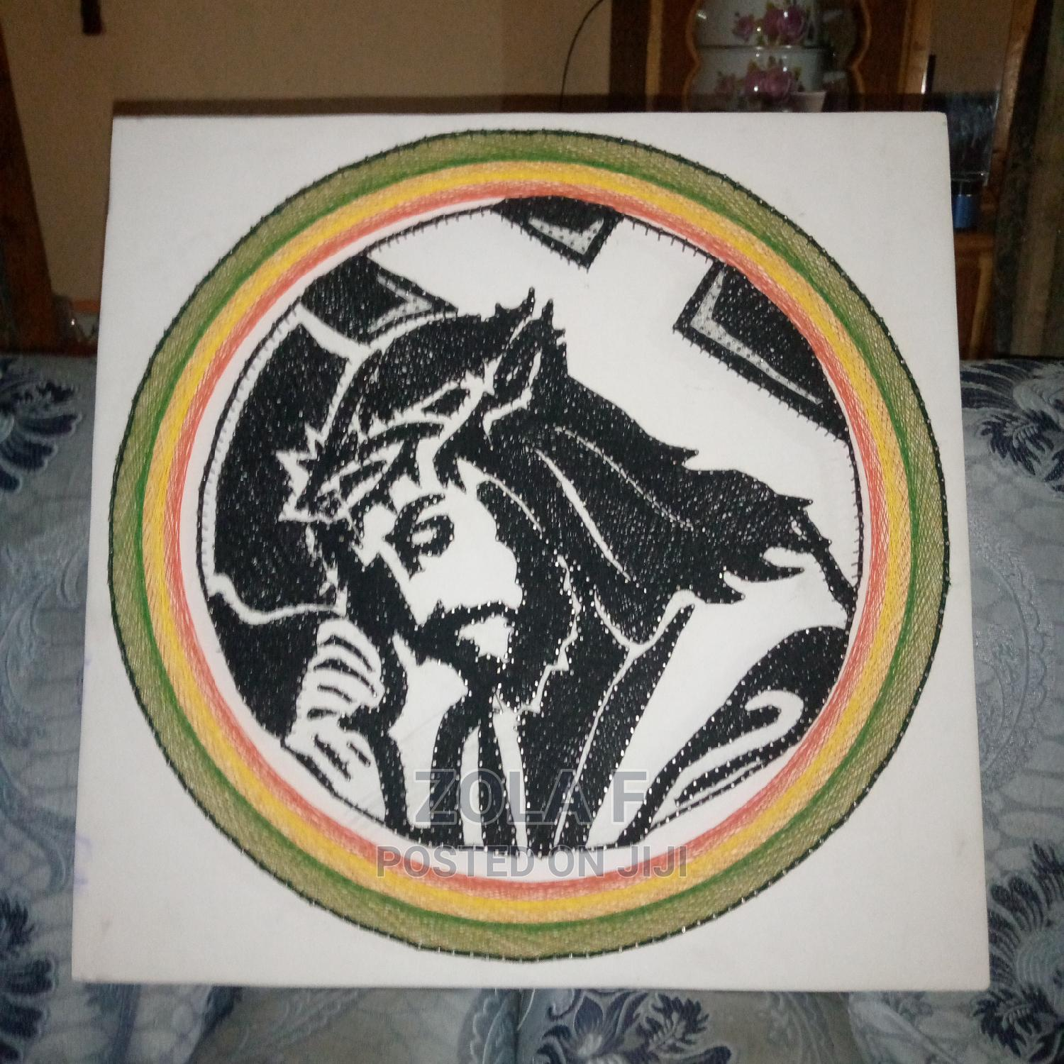 Archive: Jusus With the Cross String Art