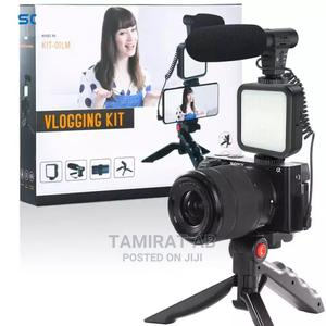Vlogging Kit With Mic Shotgun Microphone Mobile Tripod Stand | Accessories & Supplies for Electronics for sale in Addis Ababa, Yeka
