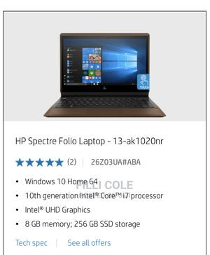New Laptop HP Spectre Folio 13 8GB Intel Core I7 SSD 256GB | Laptops & Computers for sale in Addis Ababa, Bole