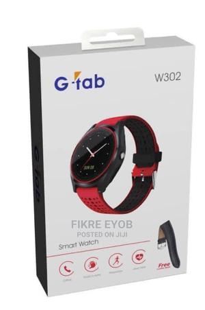 G-tab W302 Smart Watch With Sim Card | Smart Watches & Trackers for sale in Addis Ababa, Nifas Silk-Lafto