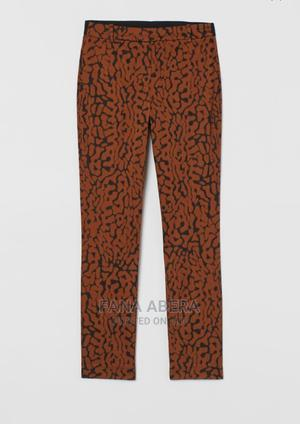 H M Ankle Length Brown/Leopard Print Pants | Clothing for sale in Addis Ababa, Bole