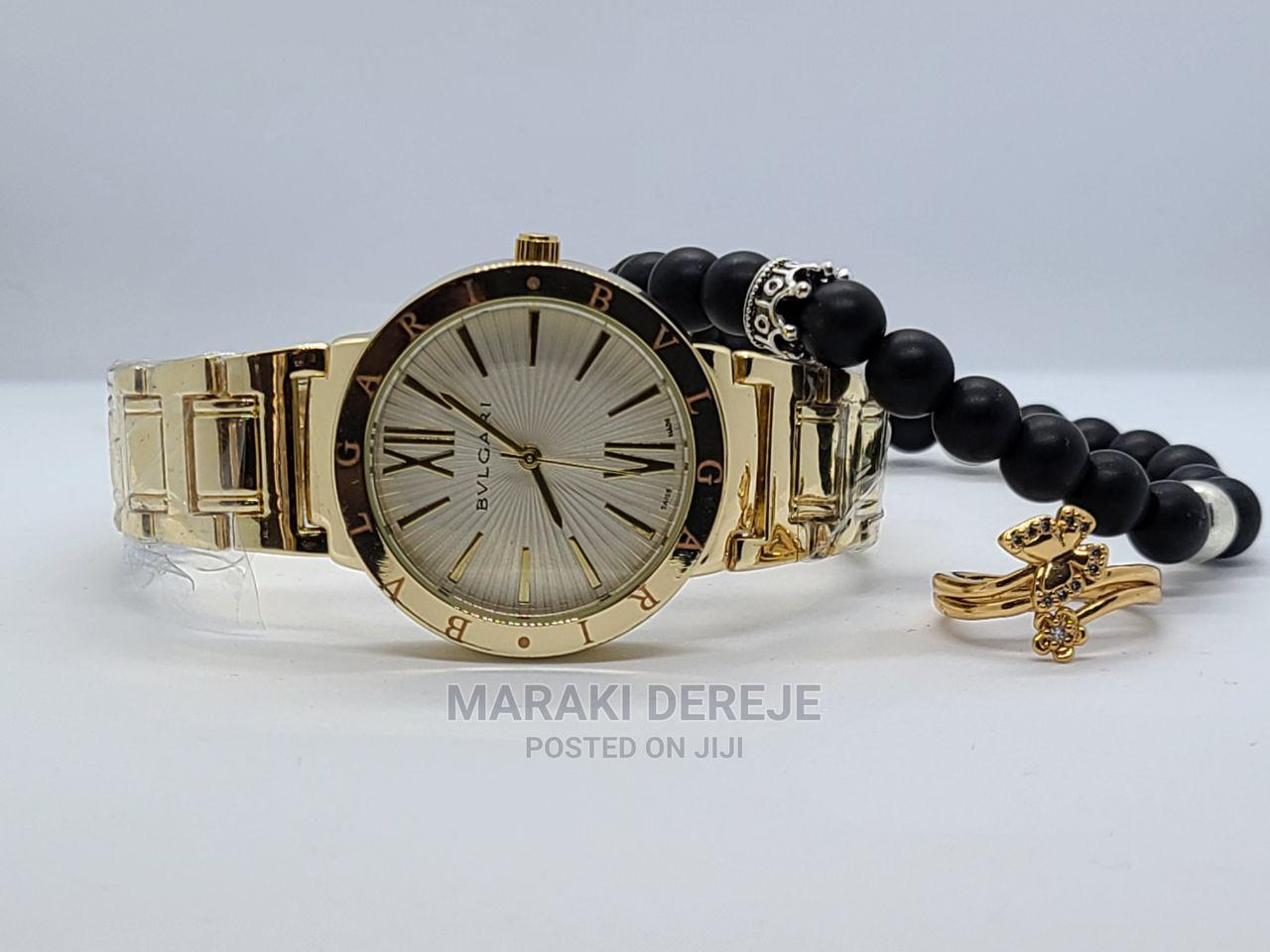 Gift Set for Meskel Watch, Ring and Bracelet in Gift Box