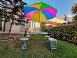 Aluminium Tabel and Seat With Umbrella | Garden for sale in Addis Ababa, Bole