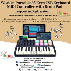 Worlde Panda Mini Portable Keyboard With Drum Pad   Audio & Music Equipment for sale in Addis Ababa, Kirkos