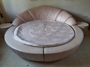 Circle Round Leather Bed | Furniture for sale in Addis Ababa, Yeka