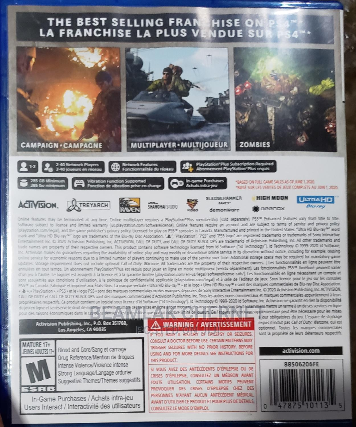 Call of Duty Black Ops Cold War | Video Games for sale in Addis Ketema, Addis Ababa, Ethiopia