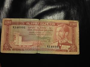 For Sell. Old Ethiopian H/Selase Five Birr | Arts & Crafts for sale in Addis Ababa, Bole