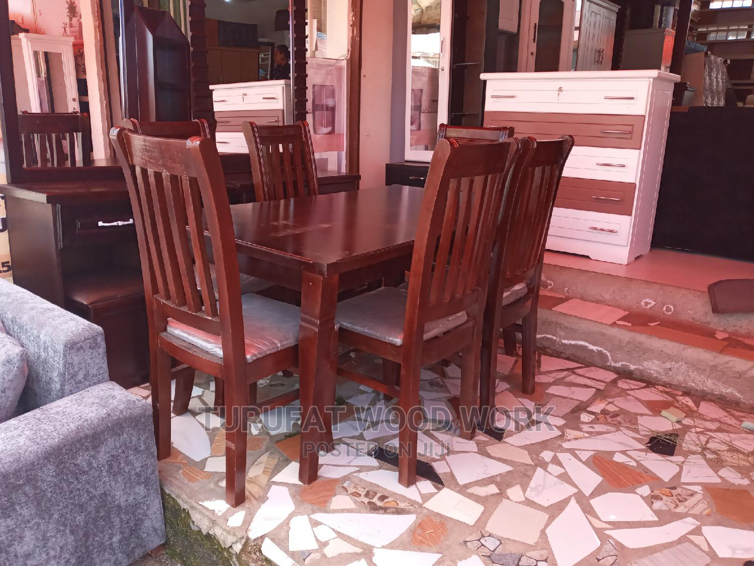 New (WANZA) Dining Table (6 Chairs)