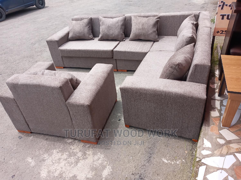 New L-Shape Sofa   Furniture for sale in Yeka, Addis Ababa, Ethiopia