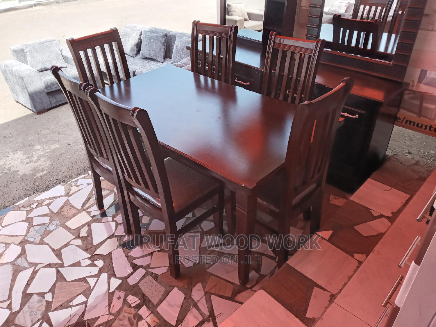 New (WANZA) Dining Table (6 Chairs)   Furniture for sale in Yeka, Addis Ababa, Ethiopia
