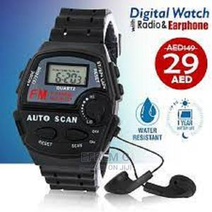 FM Auto Scan Radio Watch With Stereo Earphone | Smart Watches & Trackers for sale in Addis Ababa, Arada