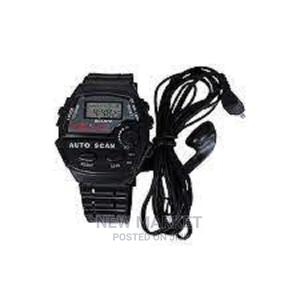 FM Auto Scan Radio Watch With Stereo Earphone | Smart Watches & Trackers for sale in Addis Ababa, Yeka
