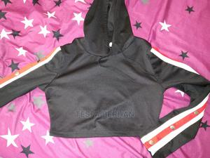Snap Button Side Crop Hoodie | Clothing for sale in Addis Ababa, Arada