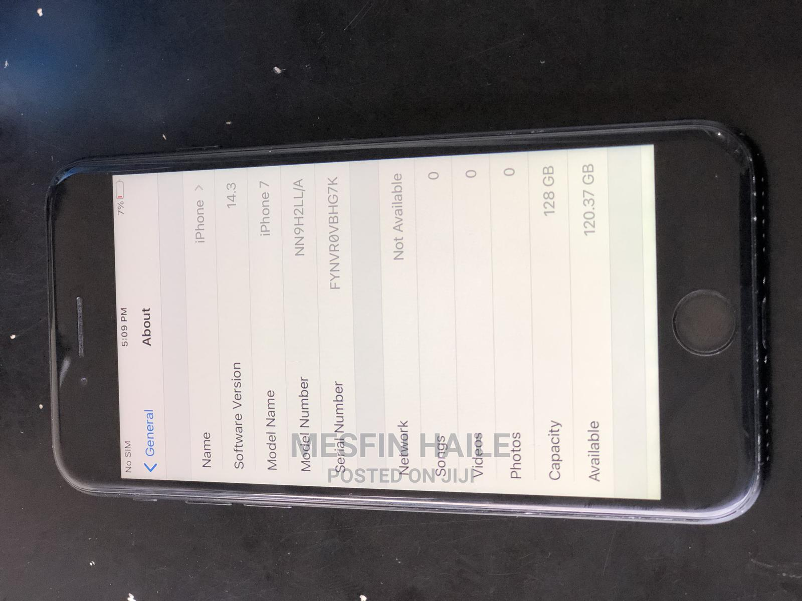 Apple iPhone 7 128 GB Black   Mobile Phones for sale in Addis Ketema, Addis Ababa, Ethiopia