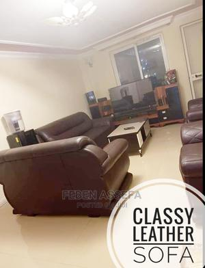 Classic Leather Sofa | Furniture for sale in Addis Ababa, Addis Ketema