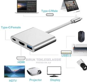 USB-C to HDMI Adapter 3-In-1 Type C Adapter   Computer Accessories  for sale in Addis Ababa, Arada