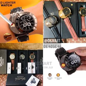 Rechargeable Windproof Lighter Watch | Watches for sale in Addis Ababa, Kolfe Keranio