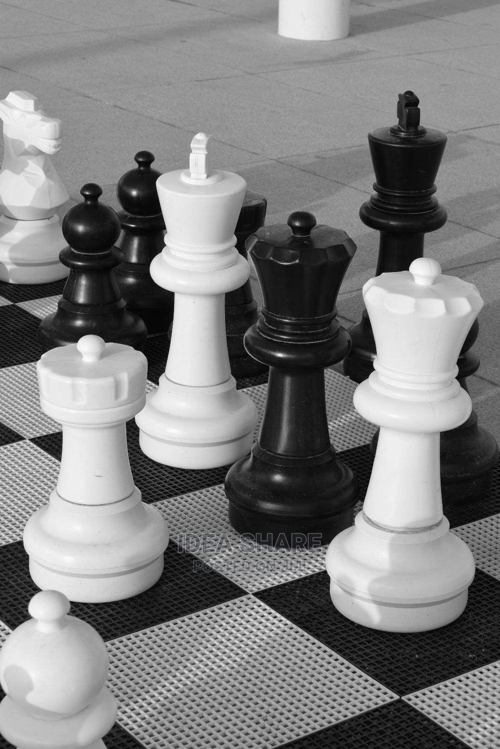 Chess Playing Set With Board
