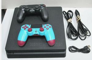 ✶ ኦሪጂናል PS4 SLIM + 2 JOYSTICKS   Video Game Consoles for sale in Addis Ababa, Bole