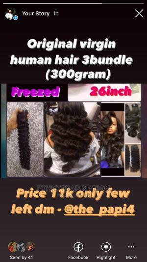 Virgin Human Hair 3bundle 300gram | Hair Beauty for sale in Addis Ababa, Arada